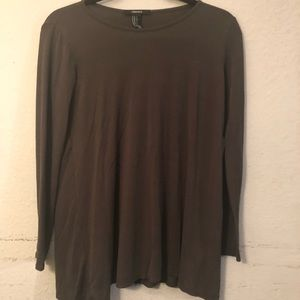 Forever 21 olive green long sleeve tee
